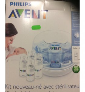 Новый стерилизатор avent с бутылочками