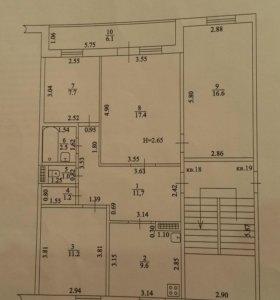 Квартира, 4 комнаты, 78.9 м²