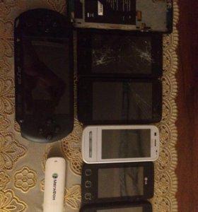 Телефоны ,PSP, мегафон модем