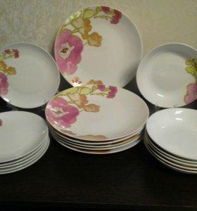 Новый набор тарелок Акварель лета