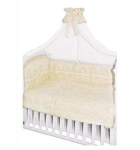 Детская кроватка трансформер с комплектом новая
