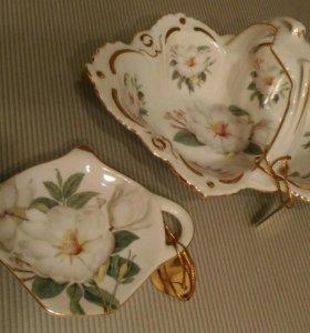 Новые конфетница и подставка под чайные пакетики