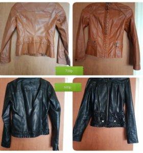куртка кожаная, жилет ,плащ,ветровка