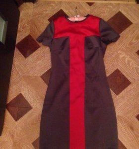 Платье серое б/у