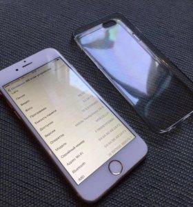 Айфон 6 золотого цвета.