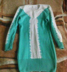 Вязаное платье,юбка