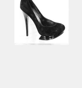 Туфли замшевые новые, р. 39-40