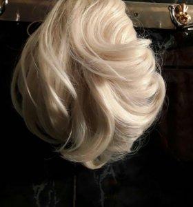 Шиньон супер блонд. 22см.