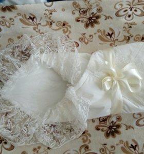 Конверт-одеяло на выписку и одежда