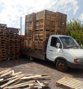 Поддоны. деревянные ящики.