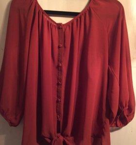 Блузка цвет терракотовый