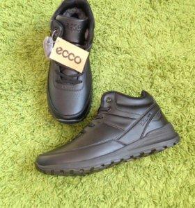 Зимние Ecco Натур. мех Новые ботинки