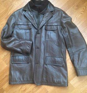 Куртка-пиджак натуральная кожа, размер 50-52