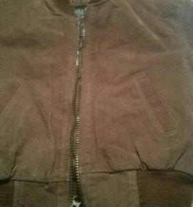 Новая куртка замша 5-6 л