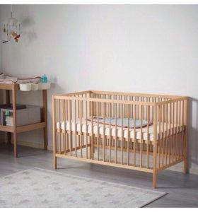 Детская кроватка икея+матрас