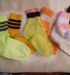 Теплые вязанные толстые носки ручной вязки