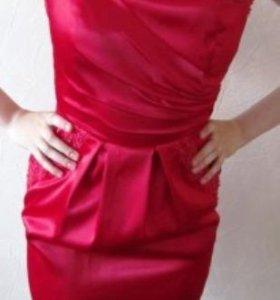 Платье красное, коктейльное