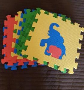 Детский коврик-пазлы