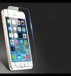 Закалённое защитное стекло на iPhone 5/5s
