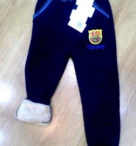 брюки (бр-1) спортивные на меху синие