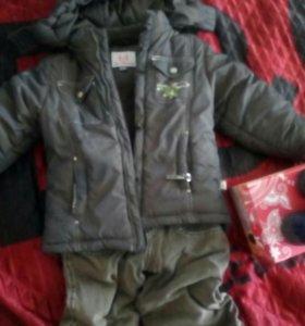 Куртка зимняя, утепленные брюки, сапожки Юничел