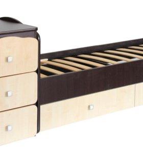 Кровать трансформер 2100 венге клен