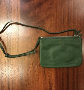 Зеленая сумка Celine trio новая
