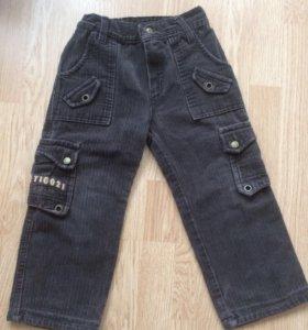 Тёплые вельветовые штанишки