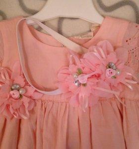 Милое платье для маленькой принцессы (р.74)