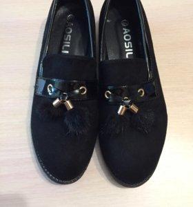 Новые туфли-лоферы 39р-р