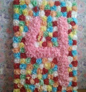 Декоративная цифра из цветов (4)