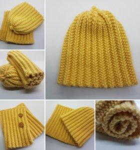Комплект шапочка и шарфик