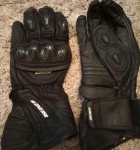 Перчатки мотоциклетные кожаные