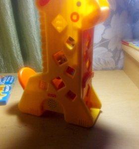 Fisher-Price Жираф с кубиками