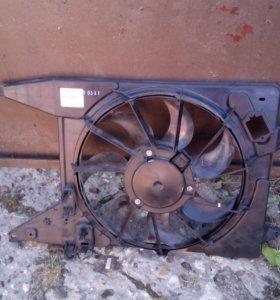 Вентилятор охлаждения рено Логан,Сандеро с А.С.