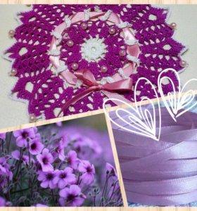 Вязанная салфетка,оформление свадеб,декор для фото