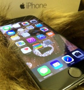 iPhone 6 space gray 64 гб. iOS 9.9. Нет Touch id
