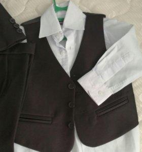 Костюм тройка+рубашка