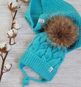 Вязанные шапочки и комплекты
