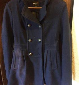 Пальто осеннее синее