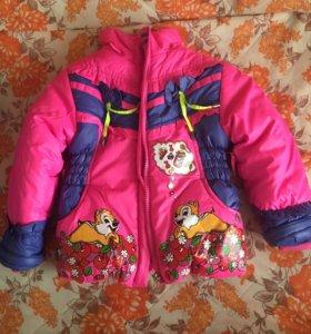 Детский комплект полукомбинезон зимний