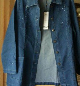 Джинсовая куртка  50-52.