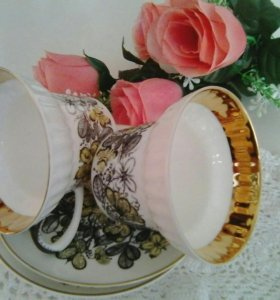 Костяной фарфор ЛФЗ чайная пара