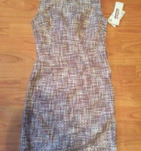 Новое твидовое розовое платье оригинал