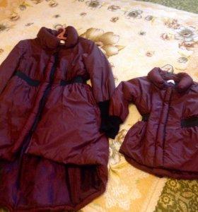 2 пальто мама и дочь