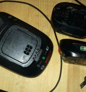 Продам 2батарейки Bosch + зарядное устройство торг