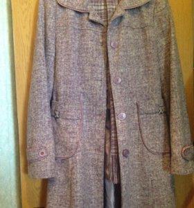 Пальто (+юбка и шарф)