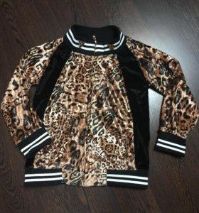 Велюровая куртка 122 см