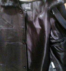 Куртка кожаная с подстёжкой