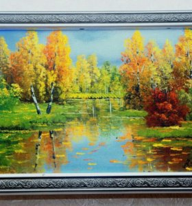 Картина Холст Масло Тёплая осень с подписъю автора